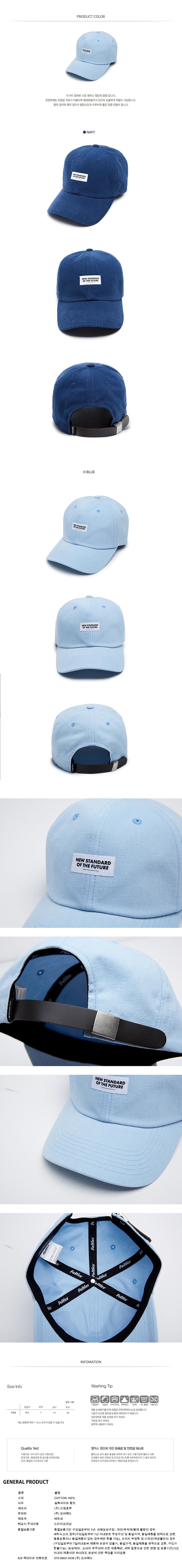 [ FELTICS ] [FELTICS] Leather Strap Cap Blue (FEPFMCA39)