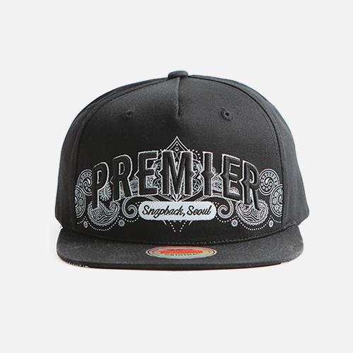프리미어 스냅백 16 페이즐리 블랙/화이트 (P910)
