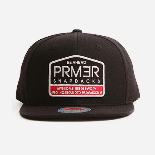프리미어 스냅백 5각 패치 블랙 (P919)