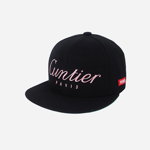 프리미어 스냅백 GUNTIER 블랙/핑크
