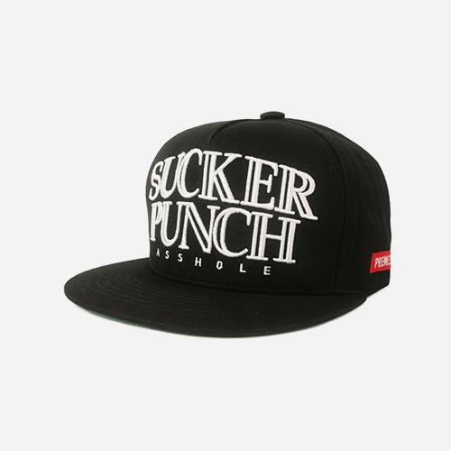 프리미어 스냅백 SUCKER PUNCH 블랙/화이트