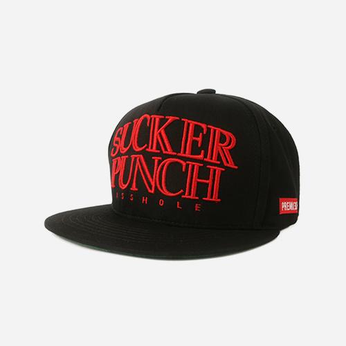 프리미어 스냅백 SUCKER PUNCH 블랙/레드