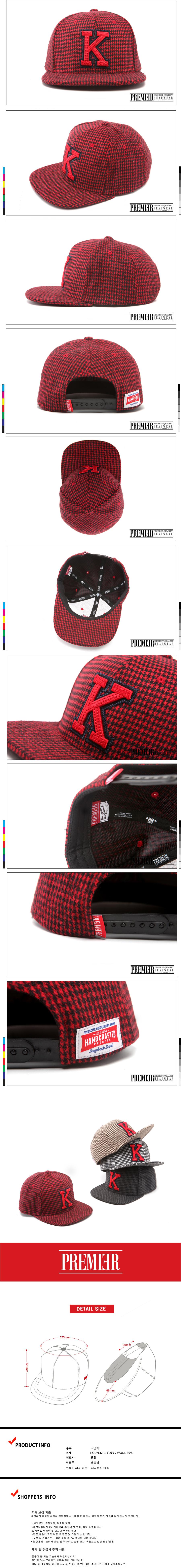 [ PREMIER ] [Premier] Hound Tooth Check K Logo Red