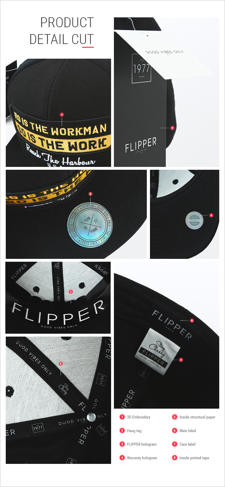 [ PREMIER ] [Premier] Flipper Big Size Snapback Walkman Black 60CM (FB017)