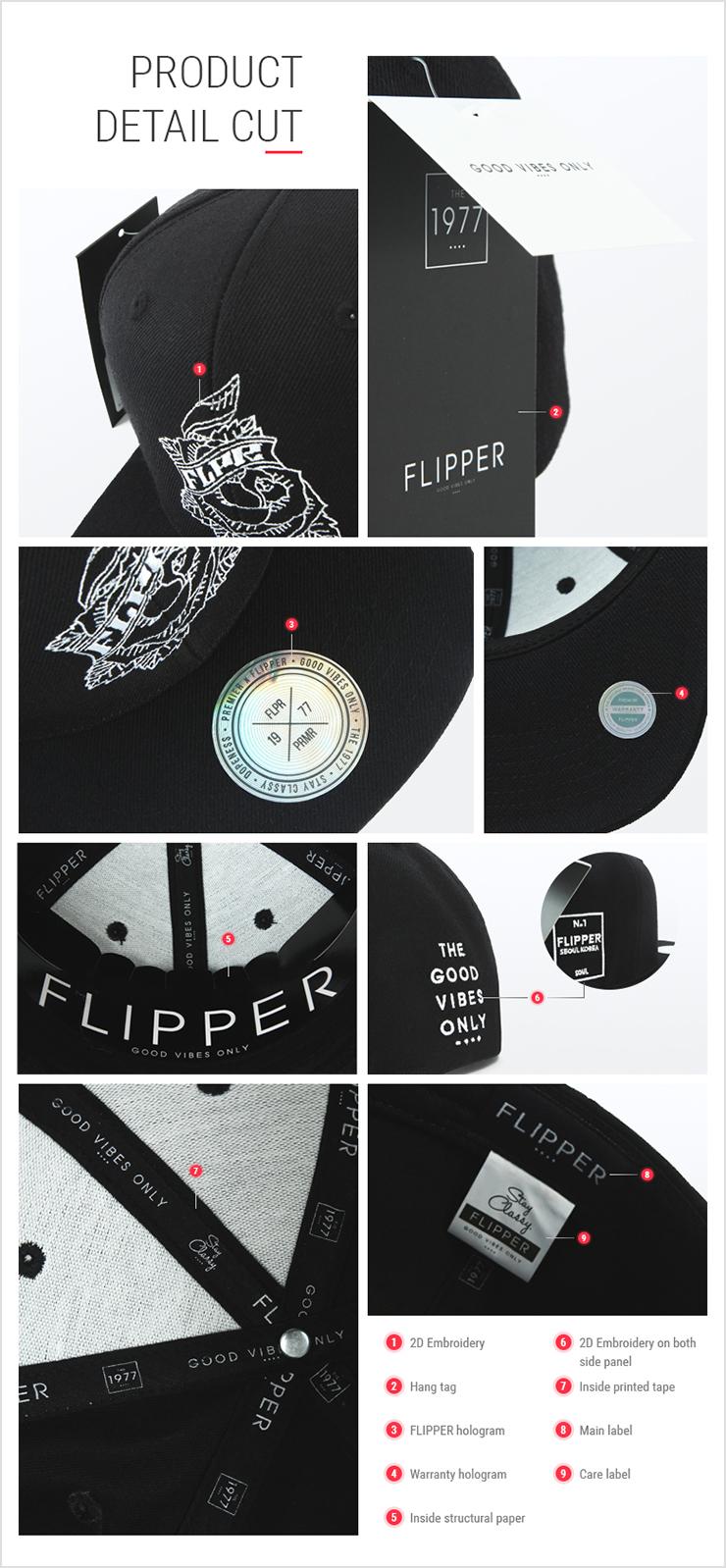 [ PREMIER ] [Premier] Flipper Snapback Rose Black (FL207)